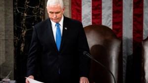 """Ook Pence veroordeelt geweld: """"Aan diegenen die vernieling gezaaid hebben, jullie hebben niet gewonnen"""""""