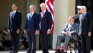 """De vier nog levende ex-presidenten wijzen Trump met de vinger: """"Een schande"""""""