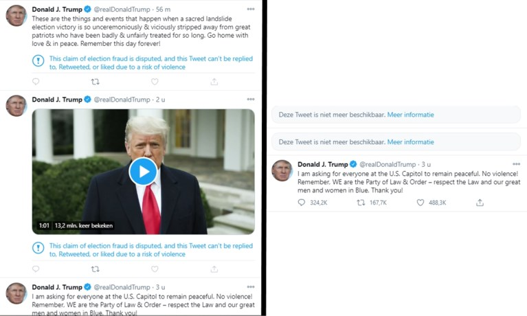 Twitter bant president Trump, ook dochter Ivanka onder vuur