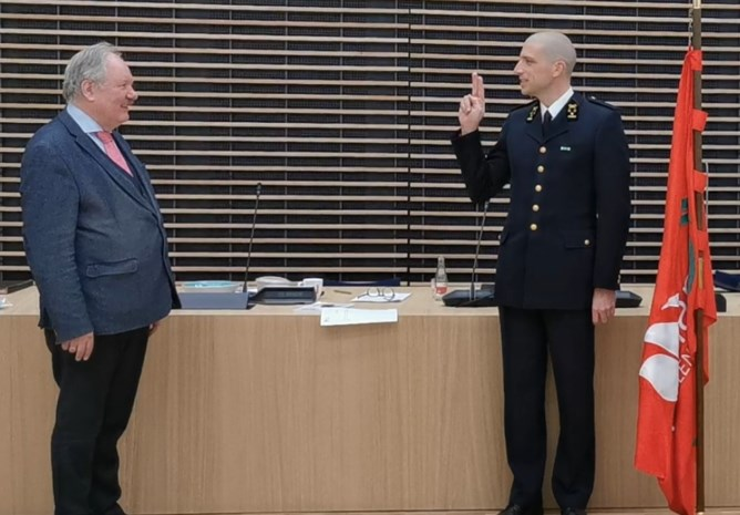Thierry Van Goethem legt eed af als zonecommandant Hulpverleningszone Waasland