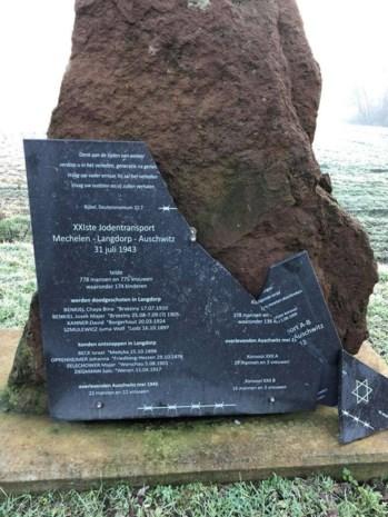 Gedenksteen Jodentransport beschadigd