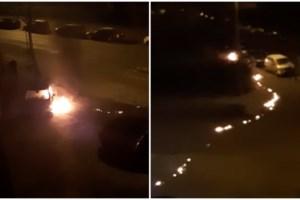 Brandstichting in auto gaat fout: dader steekt zichzelf in brand