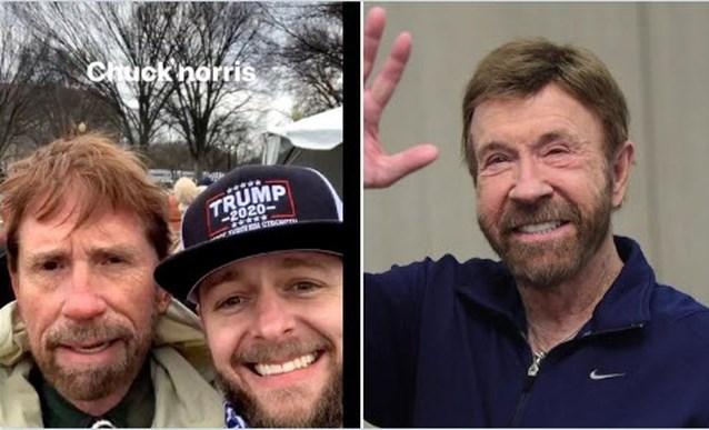 """Neen, Chuck Norris was niét bij bestorming van Capitool: """"Ik ben toch veel knapper"""""""