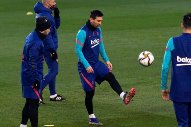 Barcelona begint strijd om Spaanse Supercup zonder Lionel Messi
