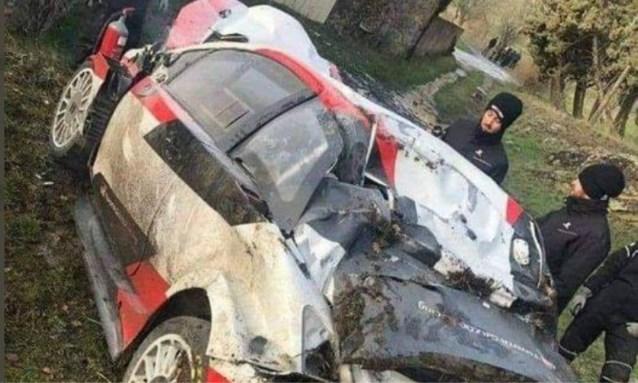Wereldkampioen Sébastien Ogier crasht zwaar in aanloop Rally van Monte Carlo