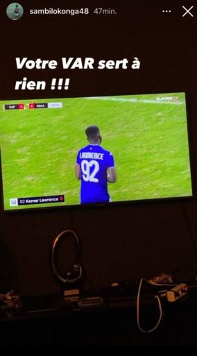 "Anderlecht-kapitein Kemar Lawrence pakt rode kaart na stevige tackle, Sambi Lokonga reageert kwaad: ""De VAR heeft geen zin"""