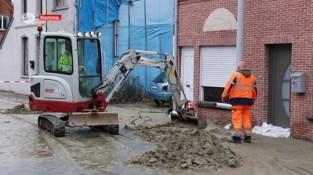 Damstraat in Hamme nog tot dinsdag afgesloten na waterlek