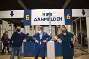Demonstratie werking Aarschots vaccinatiecentrum