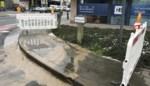 Voetpad afgesloten na waterlek tijdens vrieskou