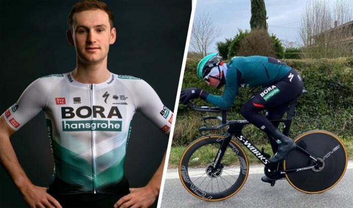 """Neoprof Jordi Meeus (BORA-hansgrohe) wil ook bij de grote jongens zijn sprintbenen tonen: """"Ik wil minstens één koers winnen"""""""
