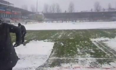 Sneeuw teistert kustzone maar Oostende - KV Kortrijk gaat gewoon door