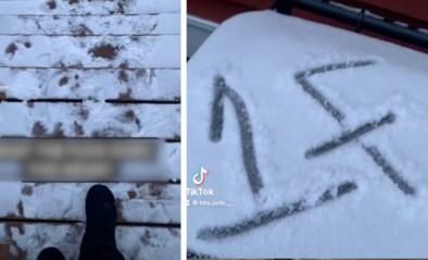 Vrouw vraagt in video wat mysterieuze boodschap in sneeuw betekent, maar antwoord jaagt haar de stuipen op het lijf