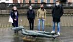 """Ben, Diego, Eline en Hazel brengen met audiogids verhaal achter vrouwen in het straatbeeld: """"Mannen domineren nog altijd de straatnamen, ook in Leuven"""""""