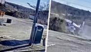 Bewakingscamera filmt vliegtuig dat recht naar beneden valt, maar piloot heeft goede engelbewaarder