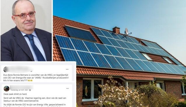 Voorzitter VREG krijgt scheldmails sinds beslissing over zonnepanelen: