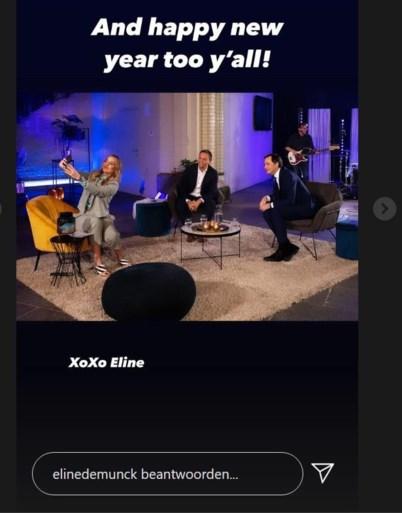 Eline De Munck reageert voor het eerst op kritiek na selfie op Nieuwjaarsreceptie van Open VLD