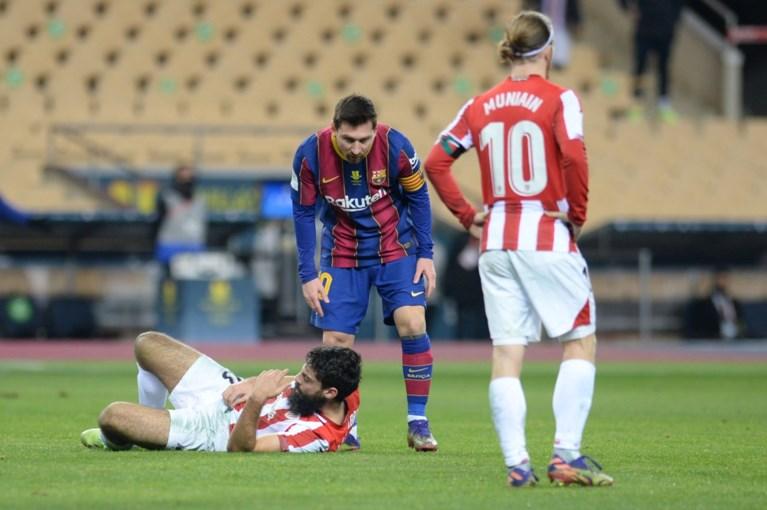 Lionel Messi pakt voor de eerste keer ooit een rode kaart in 753 matchen(!) bij FC Barcelona na verloren Supercup-finale tegen Athletic Bilbao