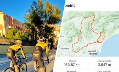 Gretige Wout van Aert troeft op stage in Spanje meteen ploegmaats Robert Gesink en Sepp Kuss af