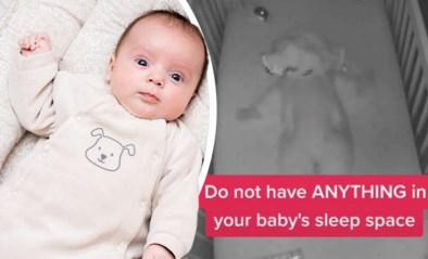 Schokkende video waarschuwt ouders om niets in de wieg van hun baby te laten liggen