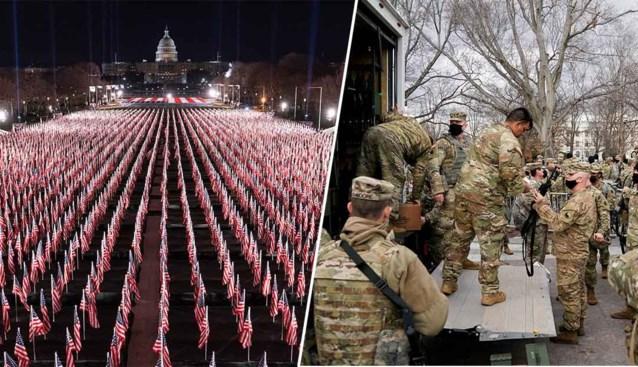 """Vijf keer meer soldaten dan in Irak en Afghanistan samen en een 'Green Zone': Washington D.C. wordt """"zwaarbewapende burcht"""" voor eedaflegging Joe Biden"""