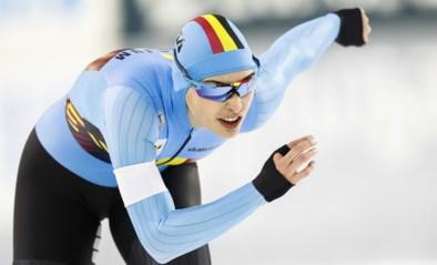 Belgische sprintster Stien Vanhoutte kijkt de kunst van het schaatsen af bij onze noorderburen