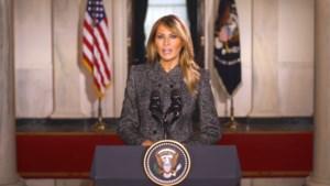 """Melania Trump is de minst populaire first lady in decennia, maar blikt terug op """"onvergetelijke vier jaar"""""""
