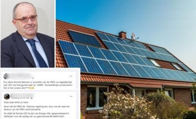 """Voorzitter VREG krijgt scheldmails sinds beslissing over zonnepanelen: """"Door onzinverhaal op Facebook"""""""