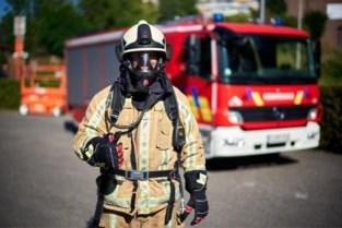 Houtstapel in brand in Zonhoven