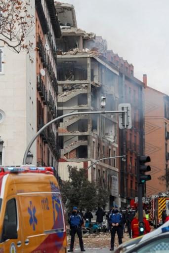 Zware gasexplosie in centrum van Madrid: al minstens 3 doden