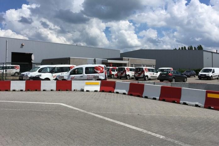 Minder post door staking in Heists verdeelcentrum