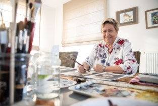 Myriam Dedeurwaerder exposeert aquarellen in de bibliotheek