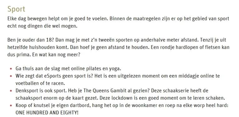 """Nederlandse overheid komt met hilarische tips voor coronaproof avondje voetbal thuis: """"Bij een doelpunt kan u, zonder te schreeuwen, opstaan uit uw stoel"""""""