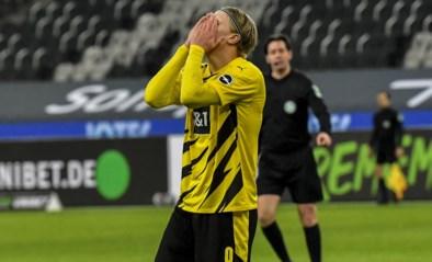 Haaland doet twee keer de netten trillen, maar Belgenloos Dortmund gaat pijnlijk onderuit tegen Mönchengladbach
