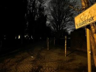 Pikdonker in het park: verlichting is defect en moet nu ook weg voor bouwwerf