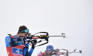 Franse mannen winnen estafette Antholz-Anterselva, België finisht als 23e