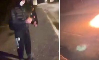 Onbekende gooit molotovcocktail op straat richting huis oud-burgemeester Maasmechelen