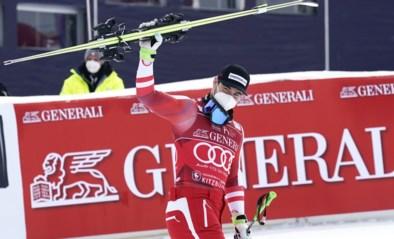 Halve Belg Vincent Kriechmayr wint Super-G op de befaamde piste in Kitzbühel