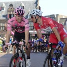 Tom Dumoulin en Marcel Kittel in 2017, beiden succesvol in de Giro.