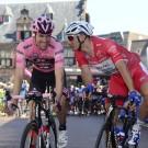 Tom Dumoulin en Marcel Kittel in 2017, beiden succesvol in de Giro.