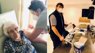 Vaccinaties zorgen voor sfeer van ontlading en hoop in rusthuis, ook huisartsen krijgen eerste prik