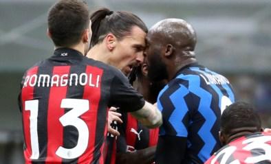 Ooit ploegmaats, maar nu duidelijk geen vrienden meer: Zlatan Ibrahimovic en Romelu Lukaku maken klinkende ruzie tijdens Inter-Milan