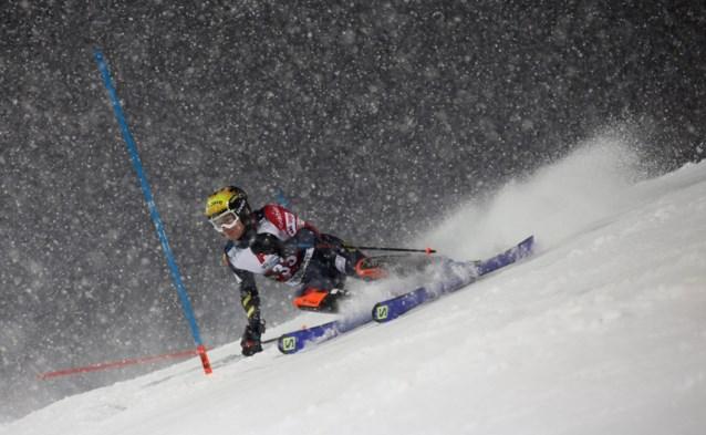 Armand Marchant plaatst zich voor tweede run van slalom in Schladming
