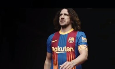 Clubicoon Carles Puyol schittert voor FC Barcelona in speciaal truitje voor El Clasico