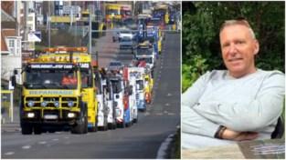"""Indrukwekkende karavaan takelwagens trekt door dorp om hun tragisch omgekomen collega Stefaan te eren: """"We zijn een hard, maar solidair wereldje"""""""