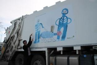 Ophaalwagens Incovo gepimpt met lokale kunstwerkjes
