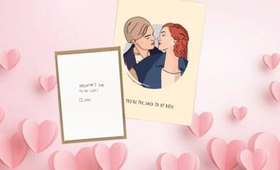 Valentijnskaartjes uit Belgische webshops