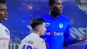 Opvallend: Anderlecht-uitblinker Anouar El Hadj moest verdedigen op Onuachu, die de volle 27 centimeter groter is