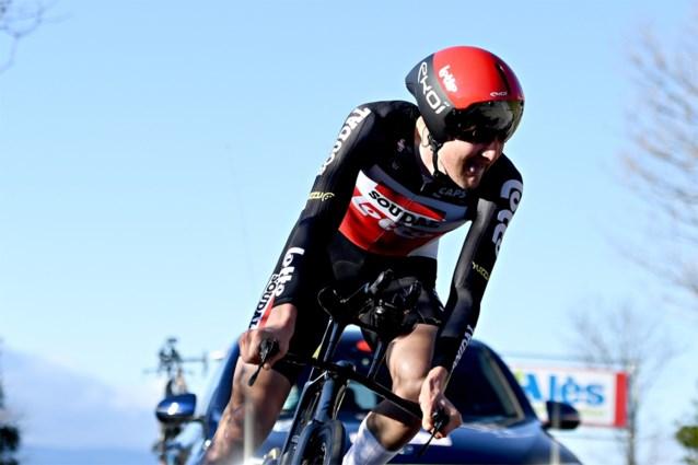 Tim Wellens rijdt sterke slottijdrit en wint Ster van Bessèges, Filippo Ganna pakt voor tweede dag op rij de dagzege