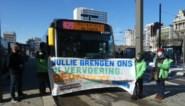 Greenpeace houdt bedankingsactie voor personeel van openbaar vervoer in Hasselt