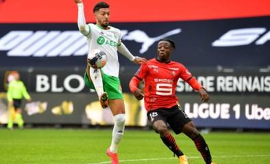 Jérémy Doku kan al voor de vijfde keer op rij niet winnen met Rennes